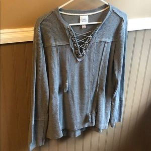 Knox Rose Sweater String Front